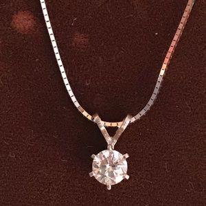Jewelry - ⭐️ Host Pick⭐️ Diamond .5 carat Solitaire necklace